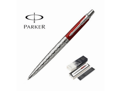 ΣΤΥΛΟ PARKER - Jotter London Architecture Special Edition Red Classical Chrome Trim Ballpoint Pen